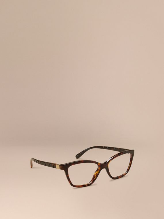 Check Detail Cat-eye Optical Frames Tortoiseshell