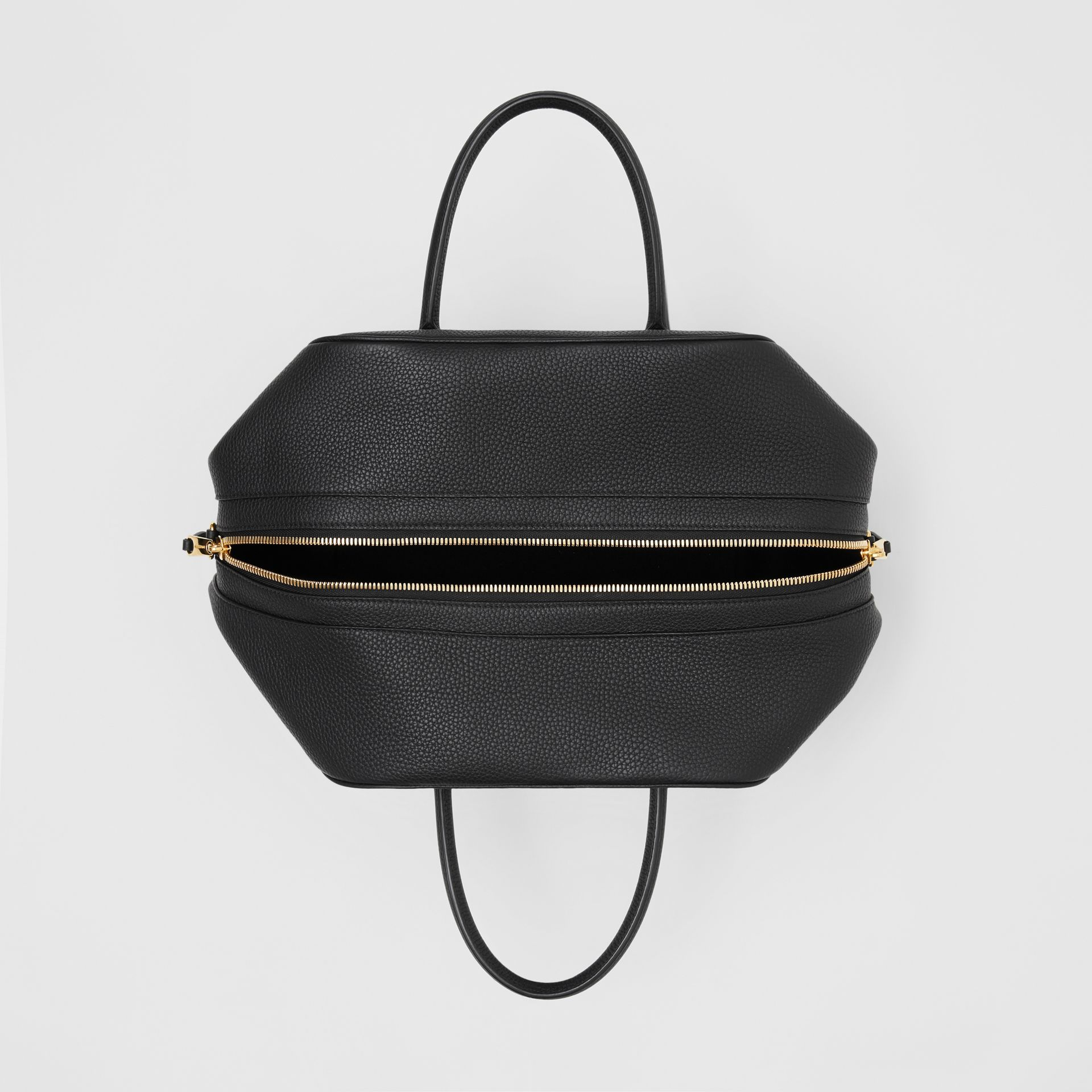 Medium Leather Cube Bag in Black - Women | Burberry Australia - gallery image 4