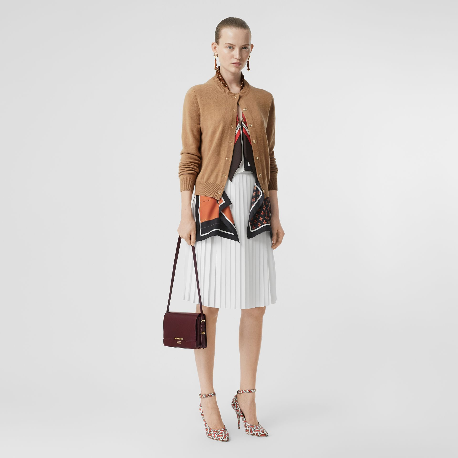 Petit sac Grace en cuir (Oxblood) - Femme | Burberry - photo de la galerie 5