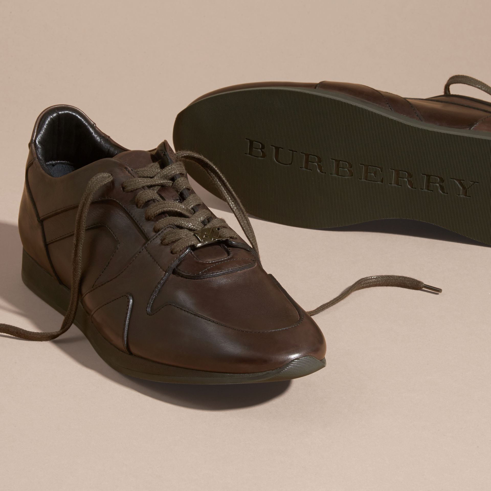 Peppercorn The Field Sneaker in Leather Peppercorn - gallery image 5