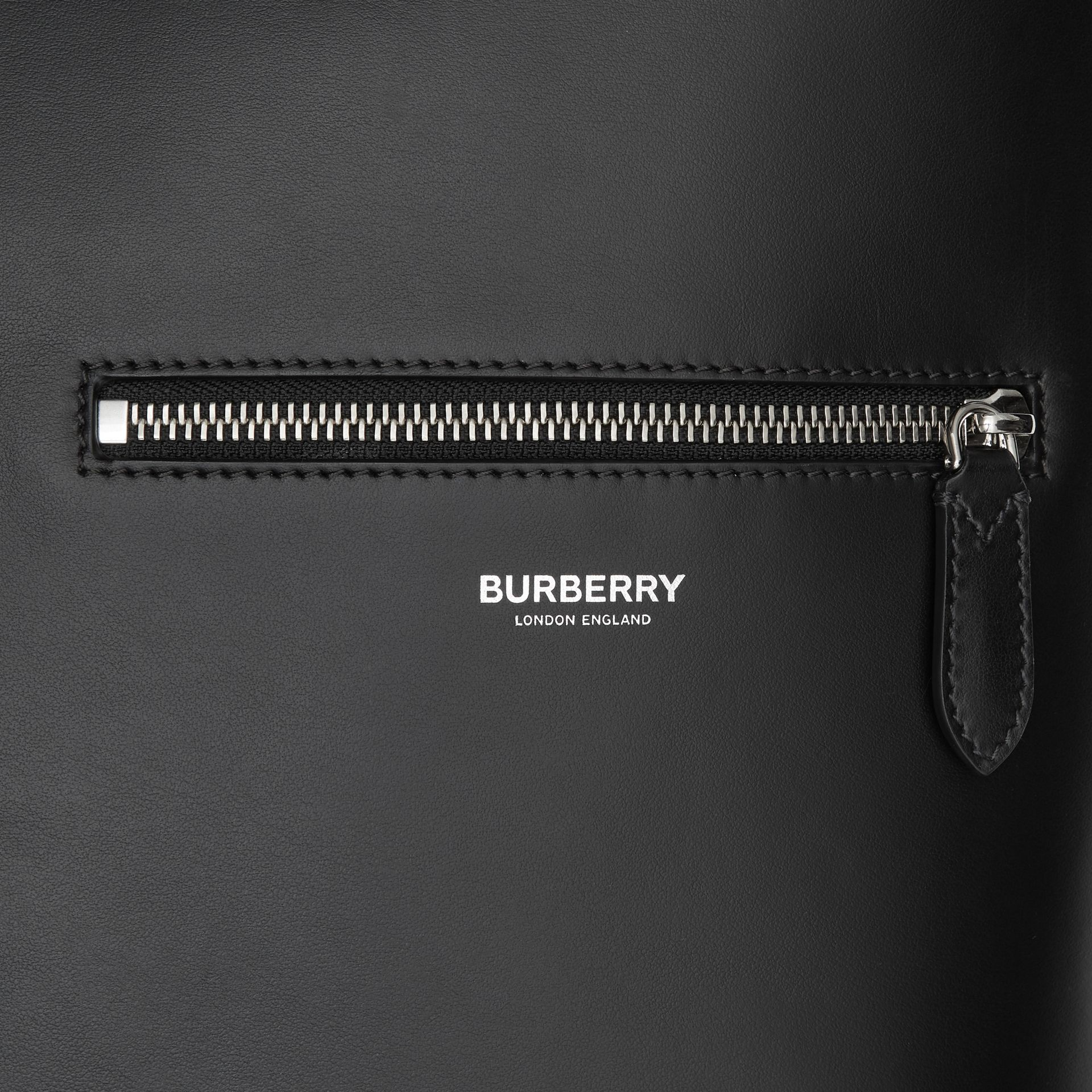 Leather Tote in Black - Men | Burberry United Kingdom - gallery image 1