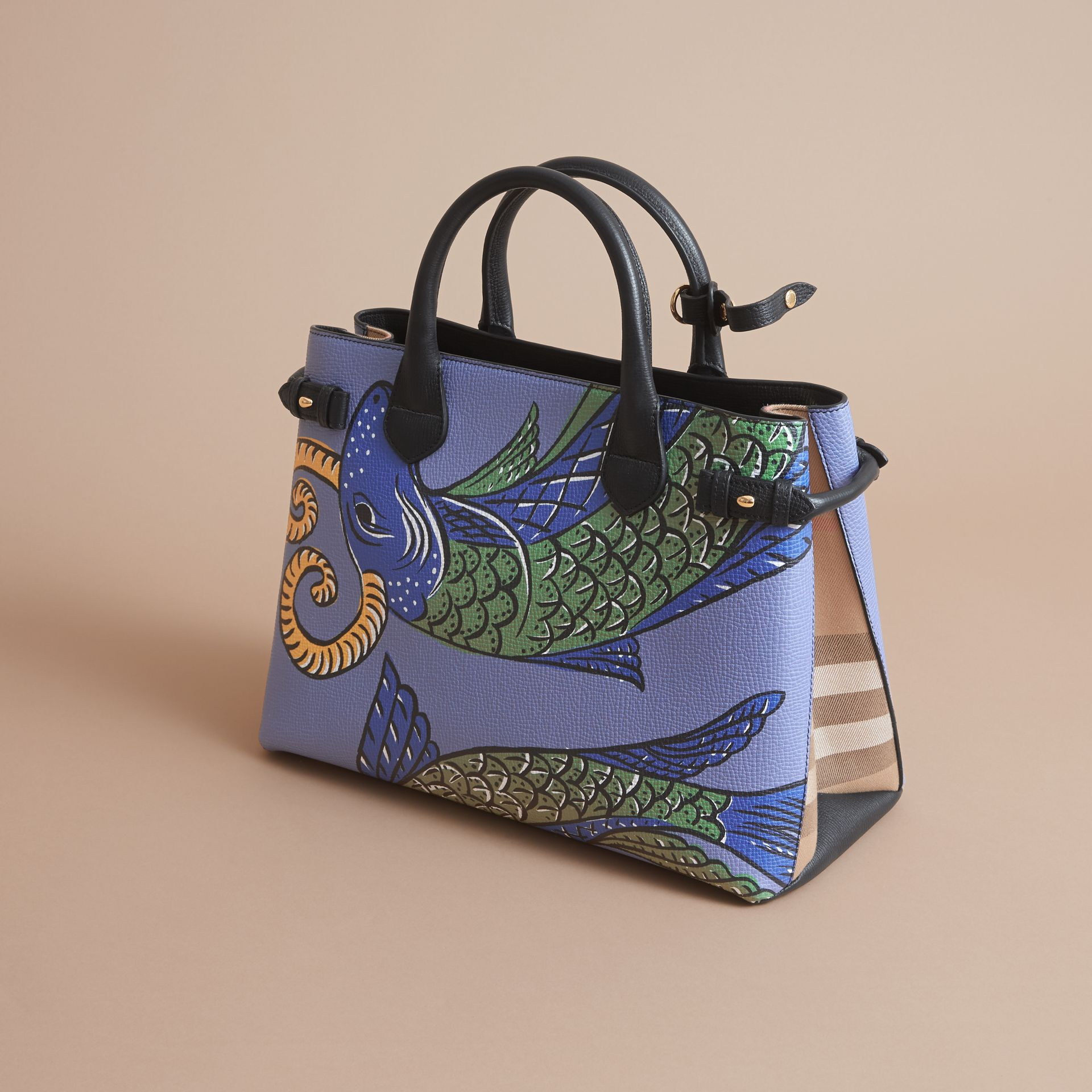 The Medium Banner in Beasts Print Leather - Women | Burberry - gallery image 5