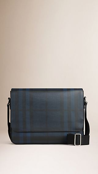 Small London Check Messenger Bag