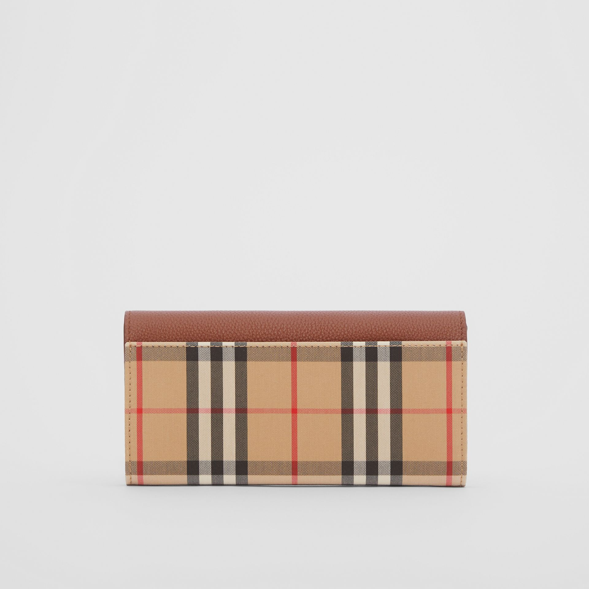 Vintage Check and Leather Continental Wallet in Tan - Women | Burberry United Kingdom - gallery image 4