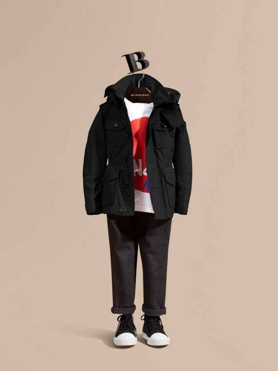 可拆式連帽科技布料外套