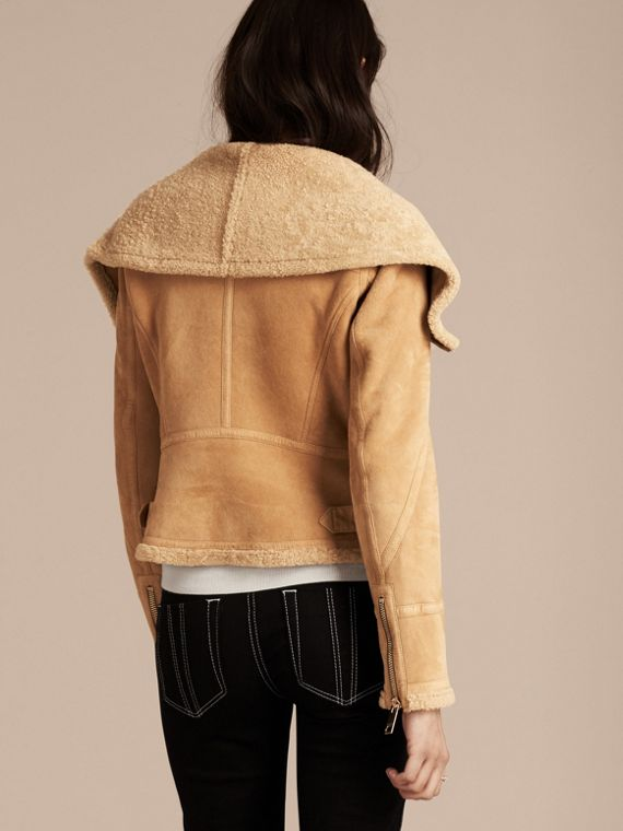 Honey Shearling Aviator Jacket - cell image 2
