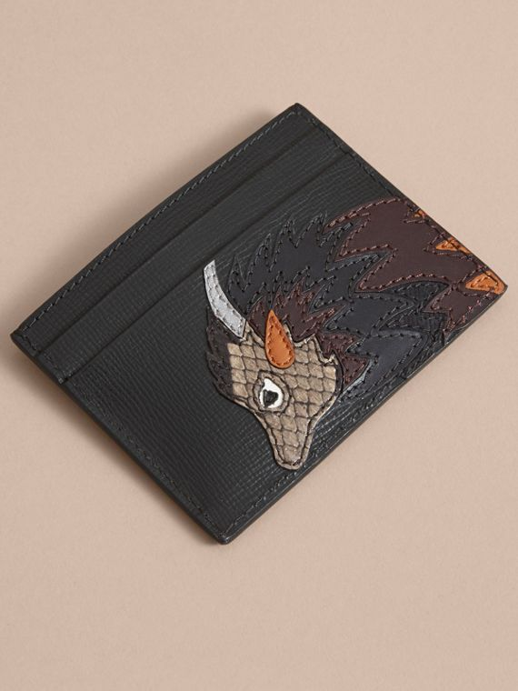 Beasts Motif Leather Card Case - Men | Burberry - cell image 2