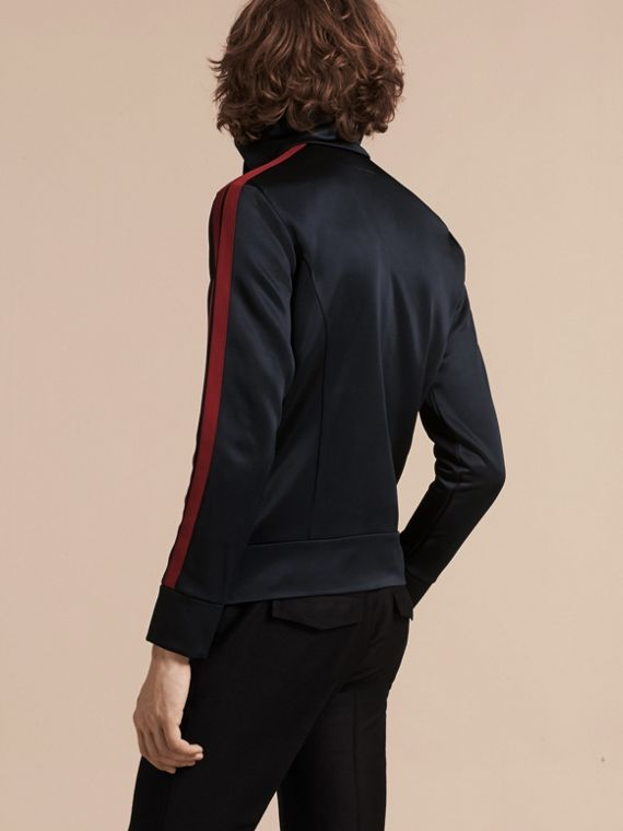 Navy High-shine Technical Track Jacket - cell image 2