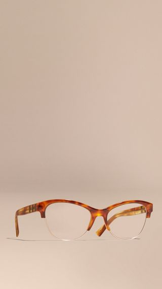 Half-rimmed Cat-eye Optical Frames