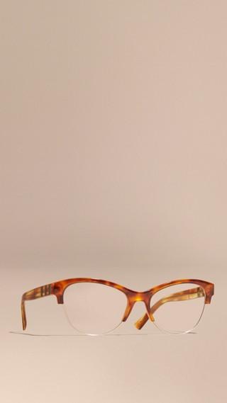 Monture œil-de-chat demi-cerclée pour lunettes de vue