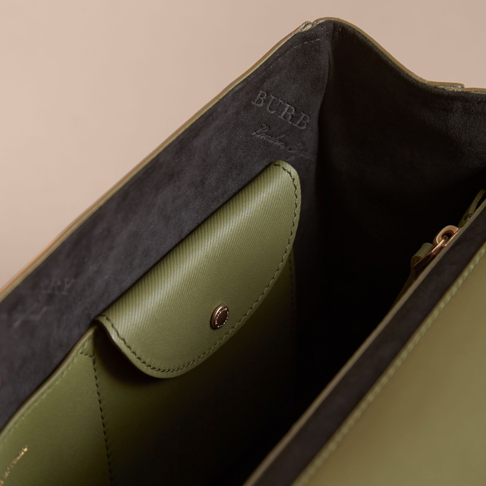 The Medium DK88 Top Handle Bag Moss Green - gallery image 8