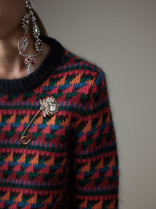 Crystal and Brass Oversized Pin | Burberry Singapore - cell image 2