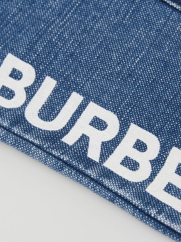 Logo Print Japanese Denim Jeans in Indigo - Children | Burberry - cell image 1