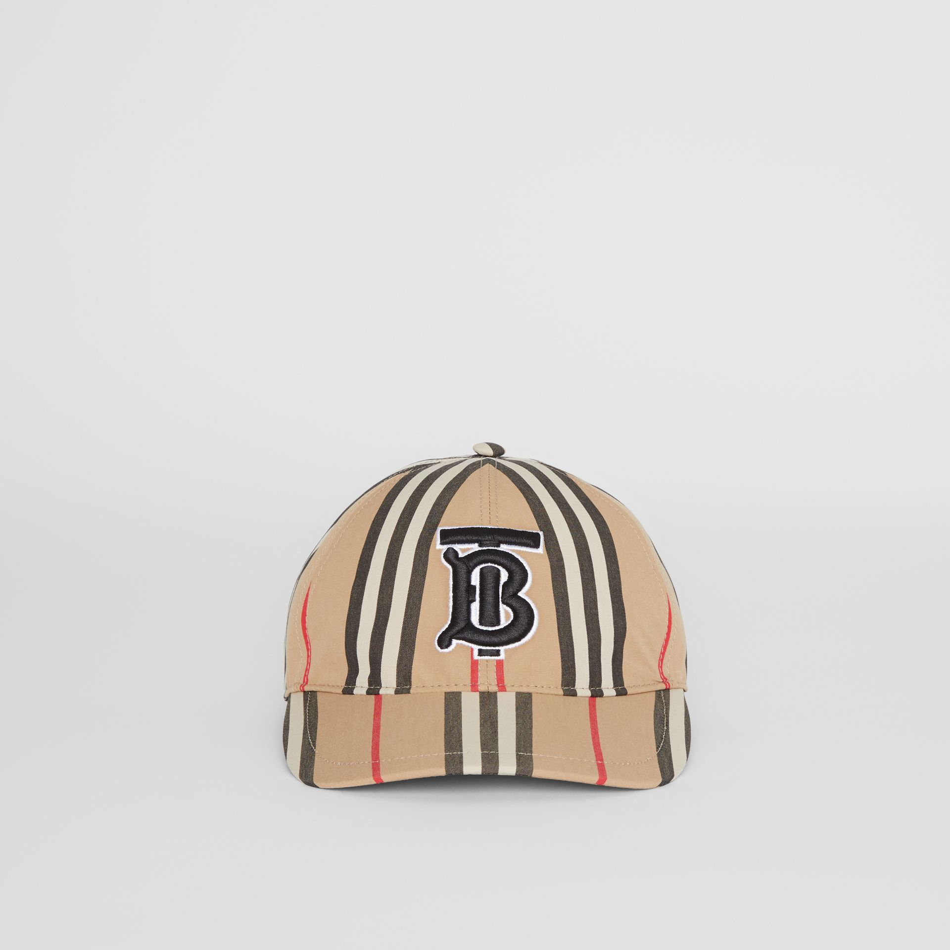 Icon Stripe Baseball Cap in Archive Beige | Burberry Canada - gallery image 4