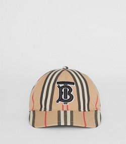 ad761cb7768 Icon Stripe Baseball Cap in Archive Beige