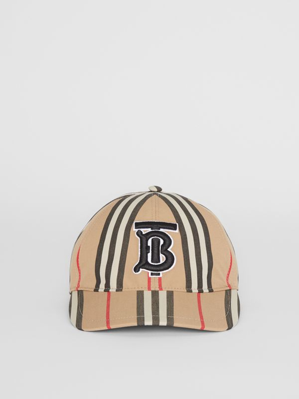 Icon Stripe Baseball Cap in Archive Beige | Burberry - cell image 3