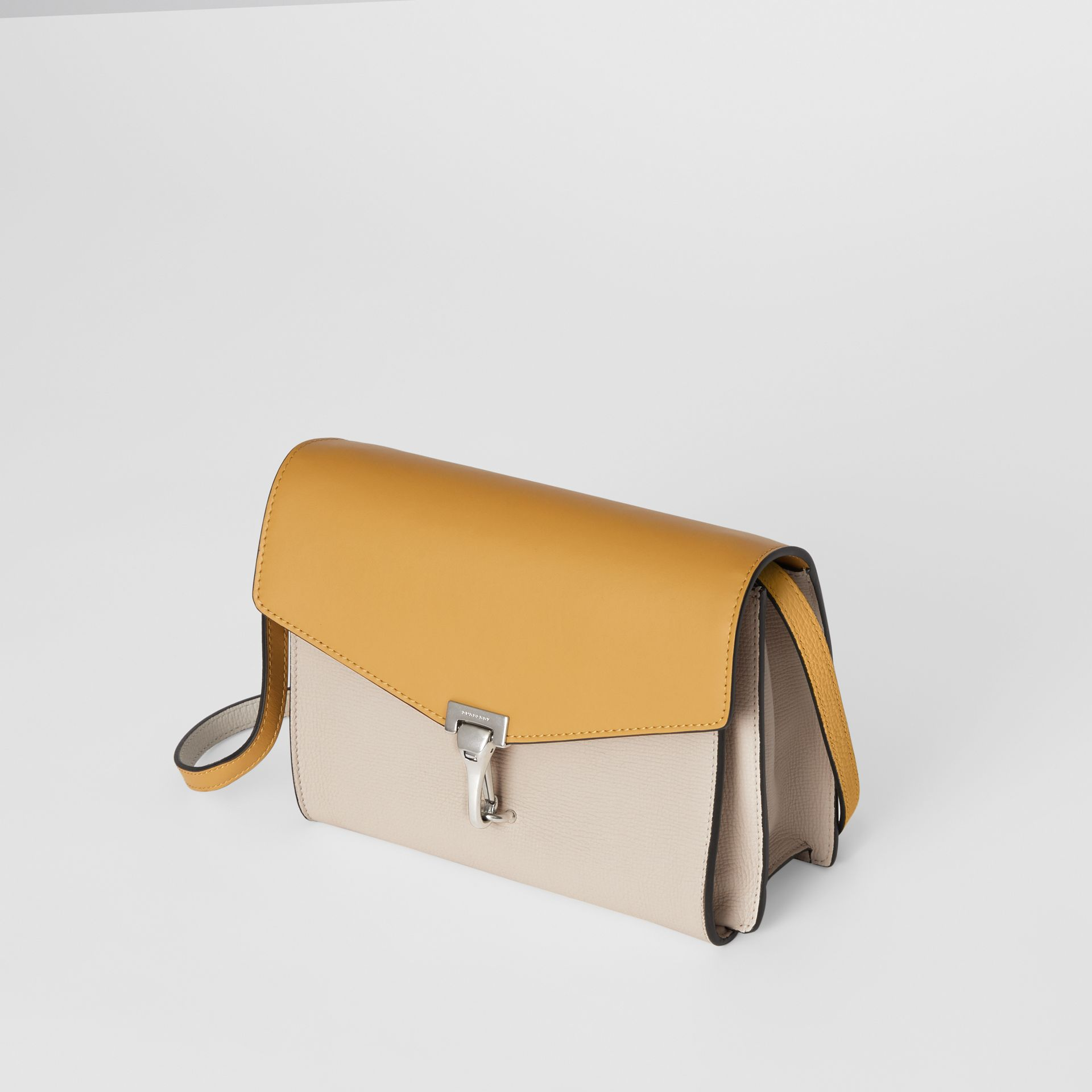 Two-tone Leather Crossbody Bag in Limestone/cornflower Yellow - Women | Burberry Singapore - gallery image 4