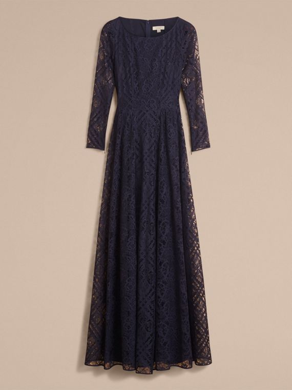 Check Lace Floor-length Dress - cell image 3
