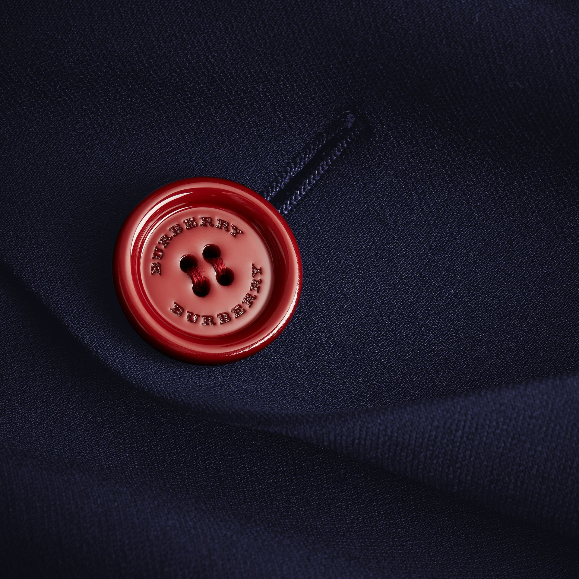 Resin Button Double-breasted Tailored Skirt - gallery image 2