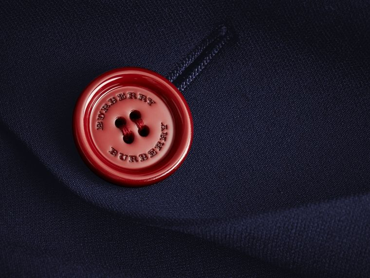 Resin Button Double-breasted Tailored Skirt - cell image 1