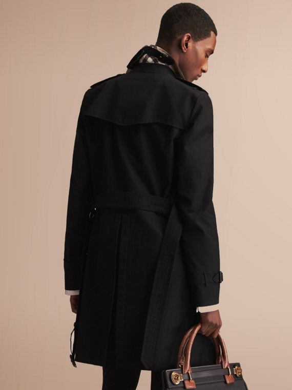 The Sandringham – Long Heritage Trench Coat in Black - cell image 2