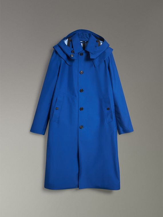 Detachable Hood Showerproof Car Coat in Bright Navy - Men | Burberry - cell image 3