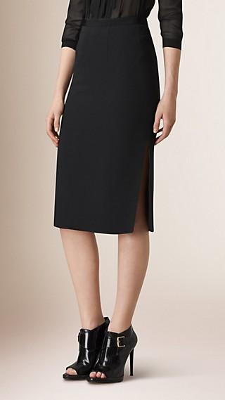 A-Line Silk Skirt