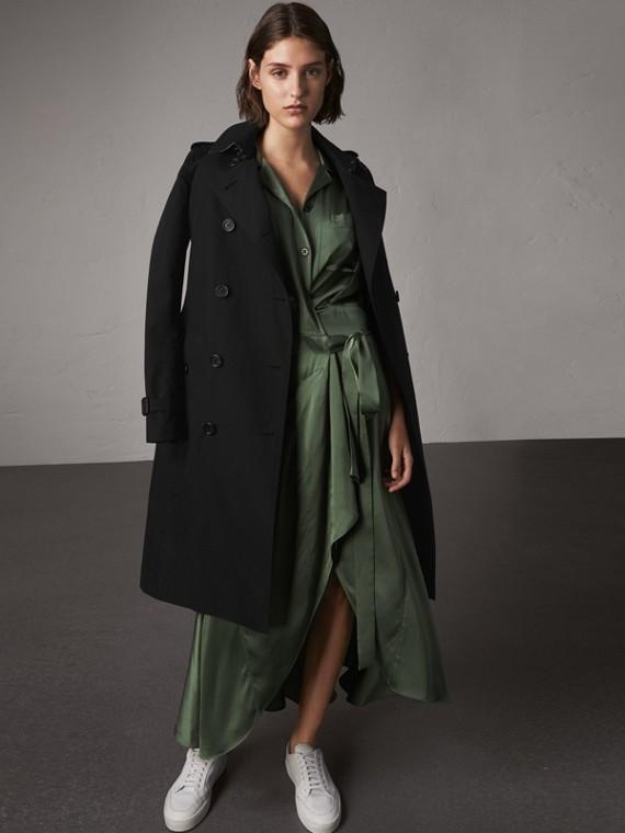 The Kensington - Trench coat extralongo (Preto)