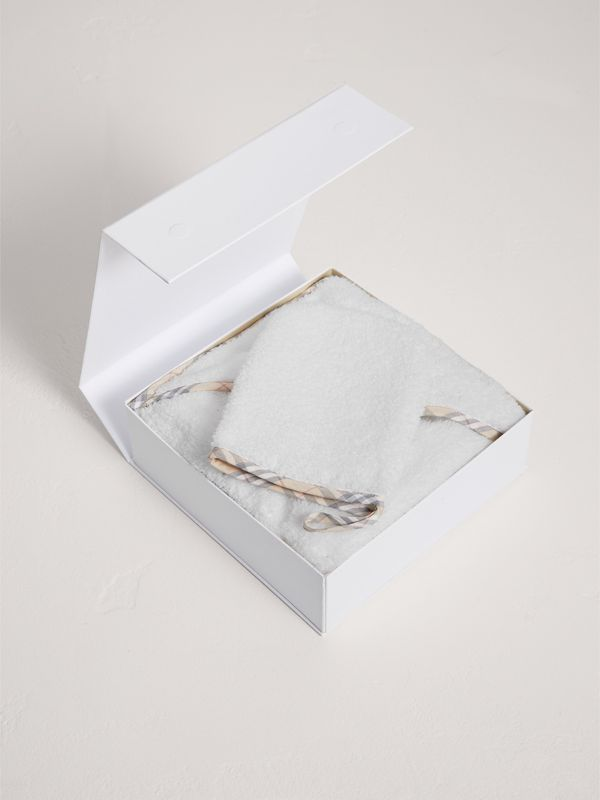 Baby Bathing Gift Set in White - Children | Burberry - cell image 2