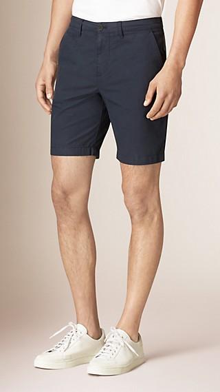 Chino-Shorts aus Baumwollpopelin