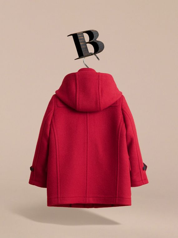 Hooded Wool Duffle Coat in Parade Red - Boy | Burberry - cell image 3