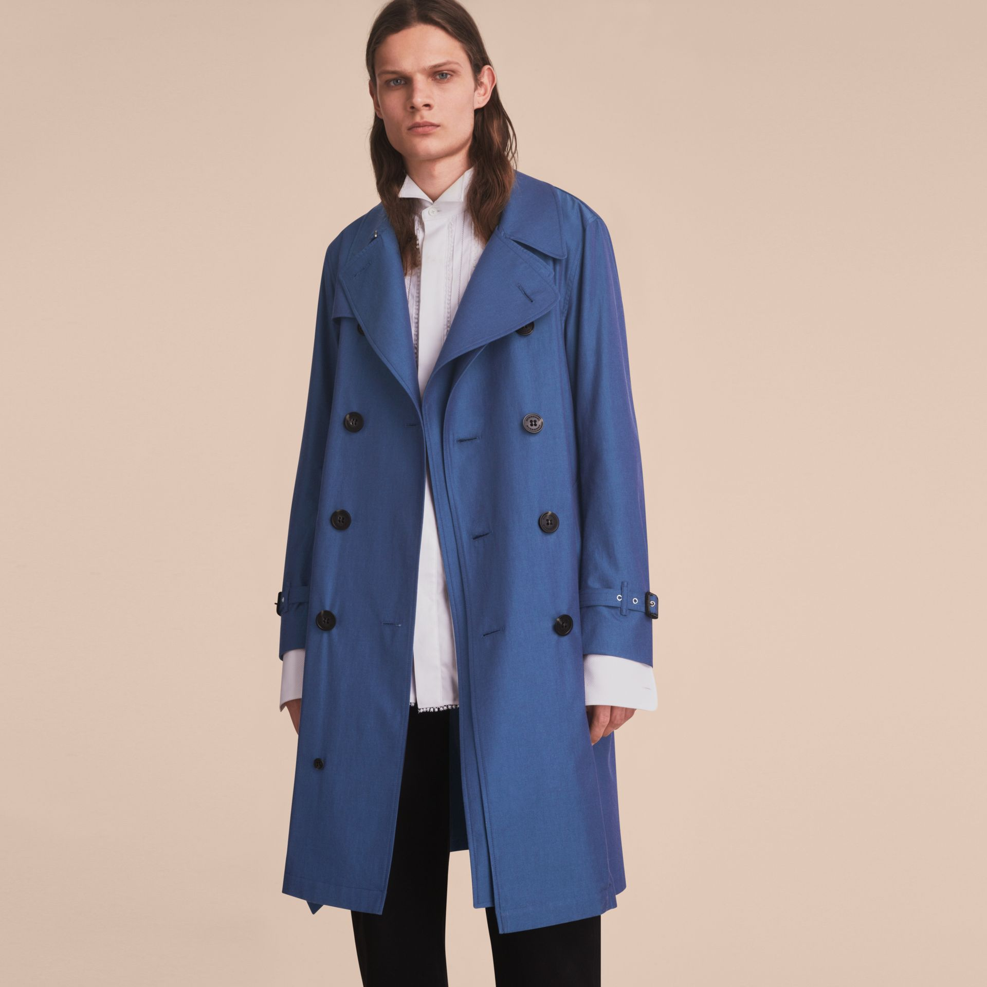 Tropical Gabardine Cotton Trench Coat - gallery image 8