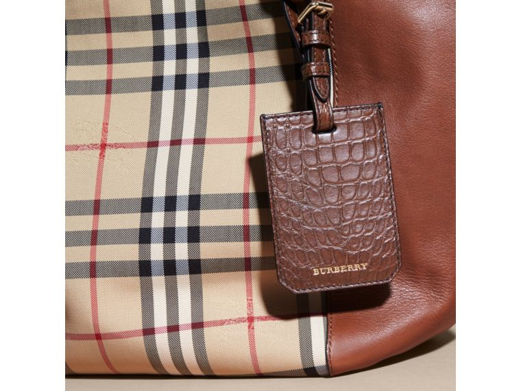 Alligator Luggage Tag in Flax Brown | Burberry - cell image 4