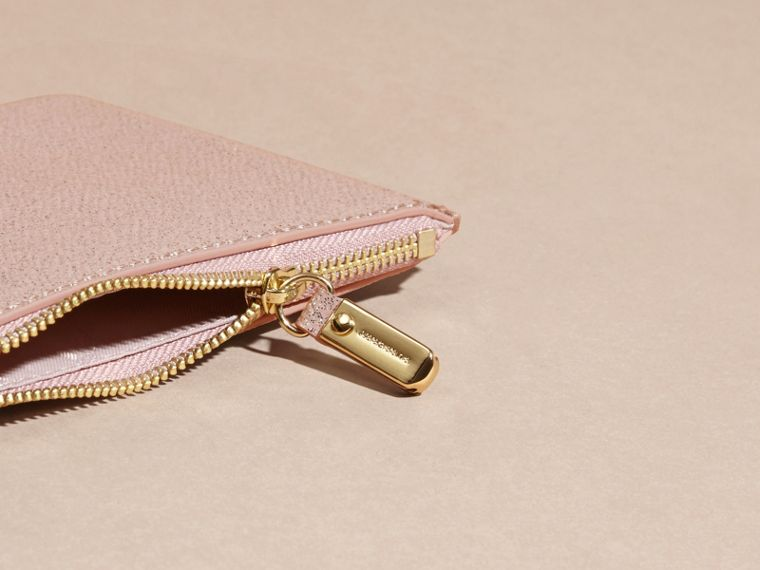 Glitter Leather Pouch in Pale Orchid - cell image 4