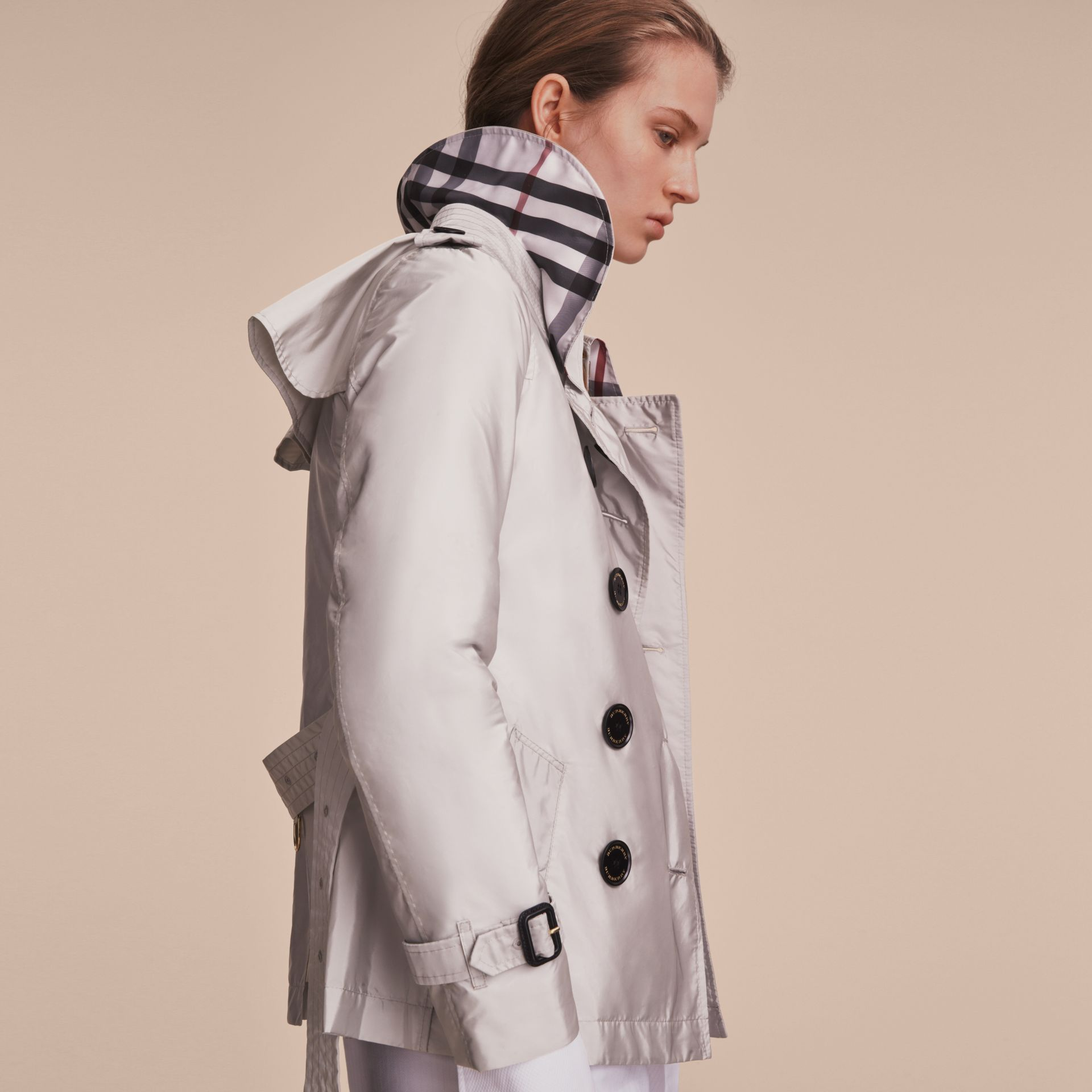 Showerproof Trench Coat Pale Grey - gallery image 5