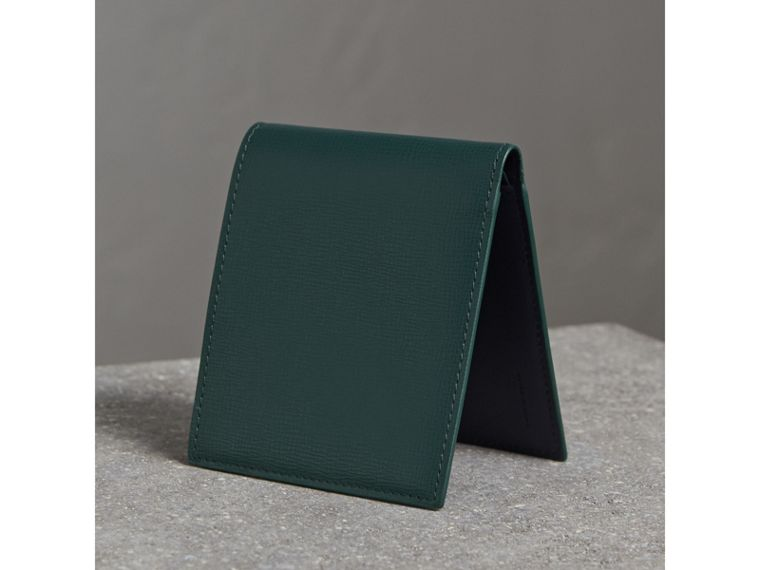 London Leather International Bifold Wallet in Dark Teal - cell image 4