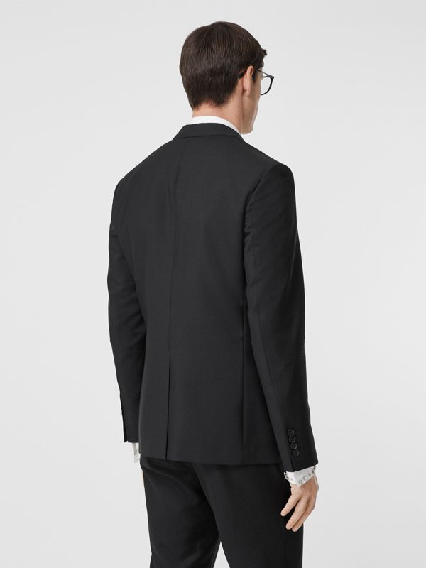 Slim Fit Monogram Motif Wool Mohair Tailored Jacket in Black - Men | Burberry - cell image 2