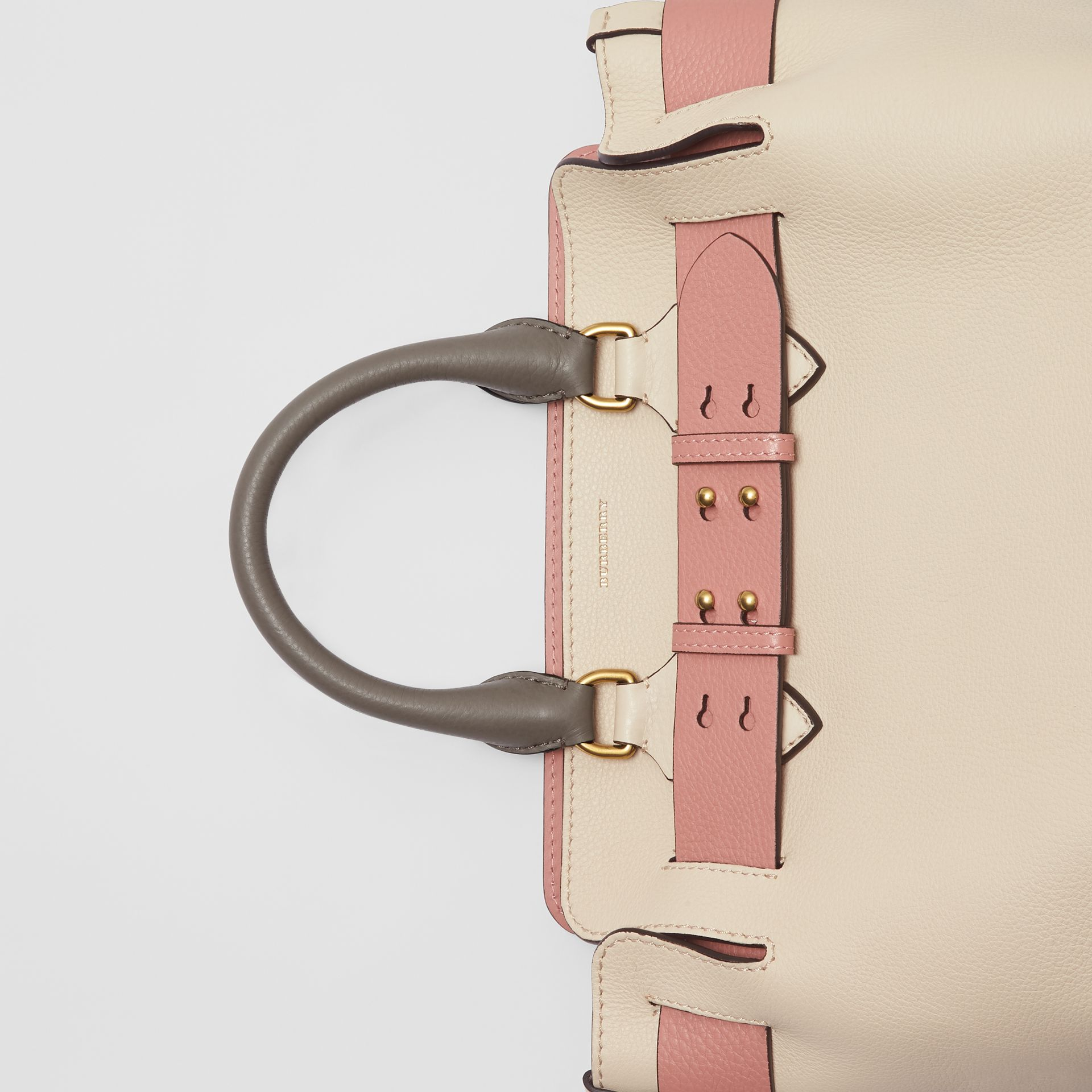 The Small Tri-tone Leather Belt Bag in Limestone/dusty Rose - Women | Burberry Australia - gallery image 1