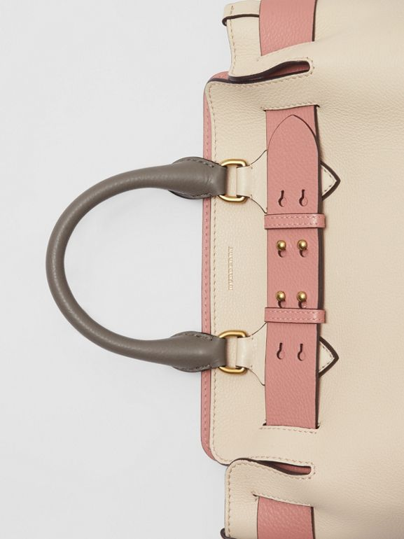 The Small Tri-tone Leather Belt Bag in Limestone/dusty Rose - Women | Burberry Australia - cell image 1