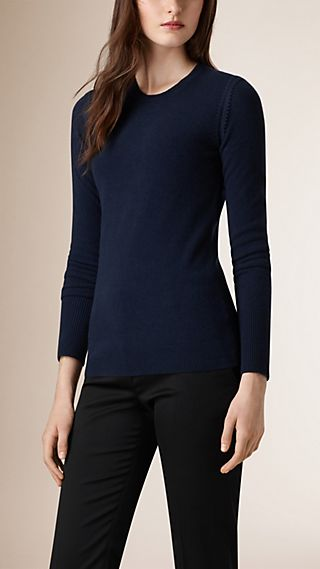 Slim Fit Virgin Wool Cashmere Sweater