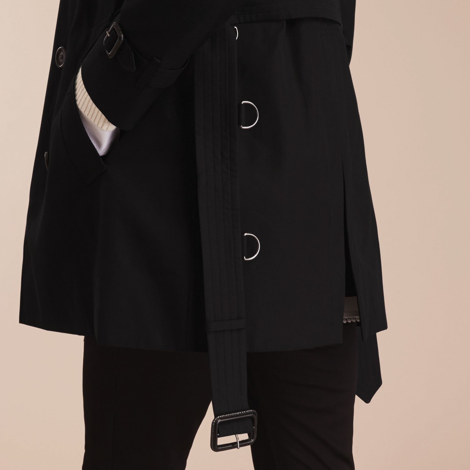 Black The Kensington – Mid-Length Heritage Trench Coat Black - gallery image 7
