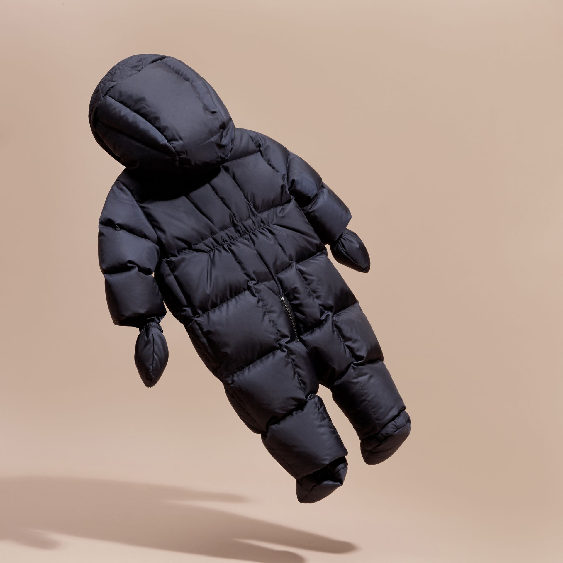 Down-filled Puffer Suit in Navy - gallery image 4
