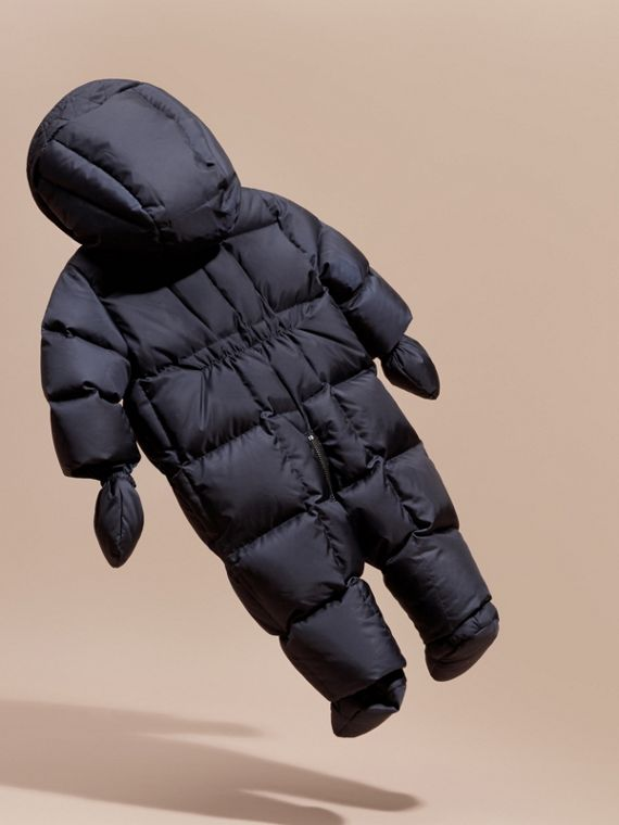 Down-filled Puffer Suit in Navy - cell image 3