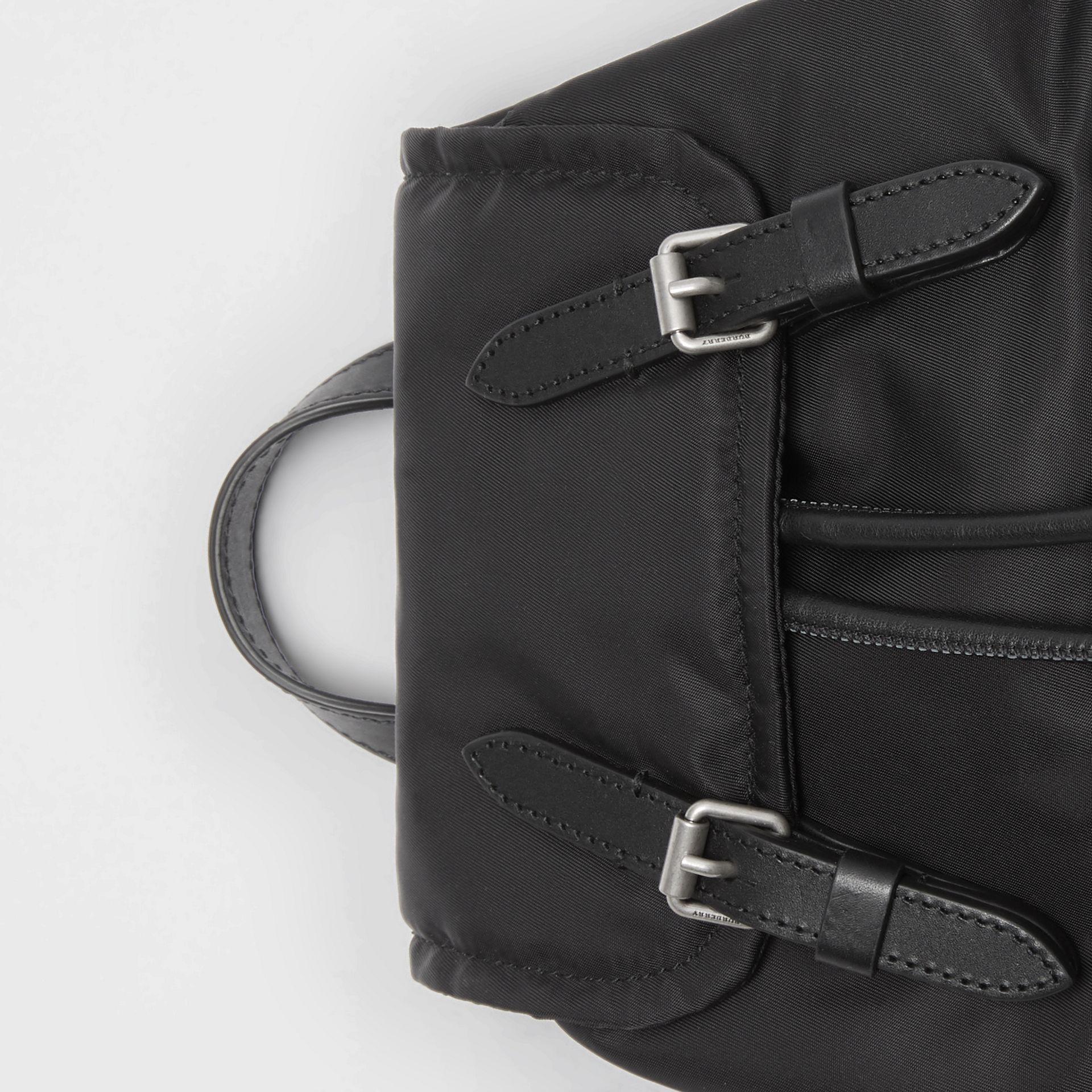 The Small Crossbody Rucksack in Puffer Nylon in Black - Women | Burberry - gallery image 1