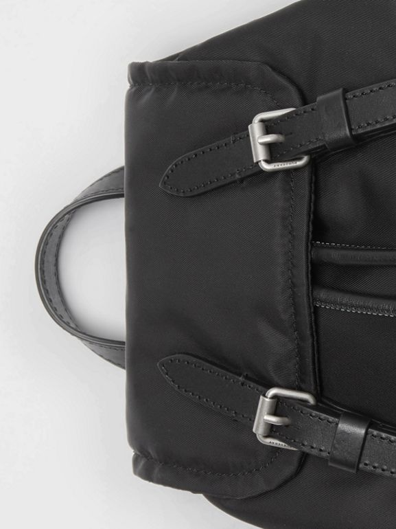 The Small Crossbody Rucksack in Puffer Nylon in Black - Women | Burberry - cell image 1
