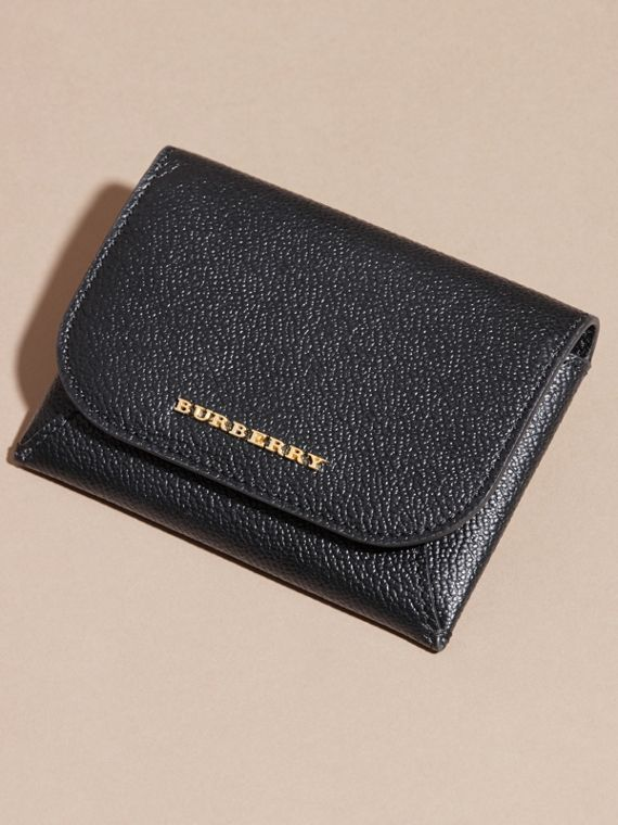 Leather Coin Case with Removable Card Compartment in Black - Women | Burberry - cell image 2