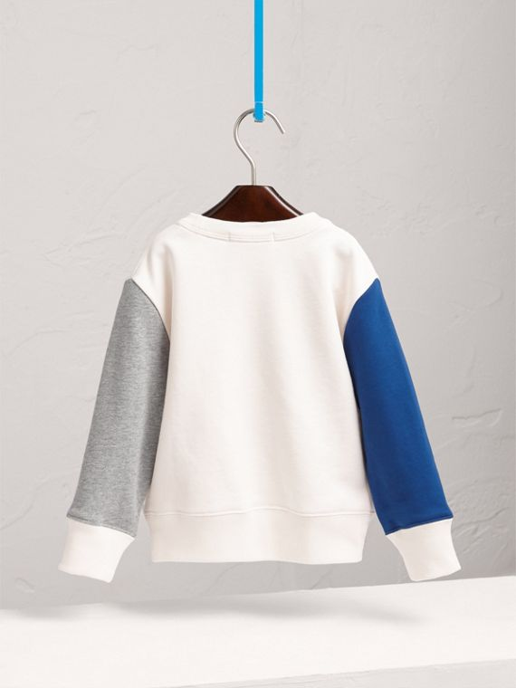 Weather Motif Cotton Sweatshirt in Bright Cornflower Blue - Girl | Burberry - cell image 3