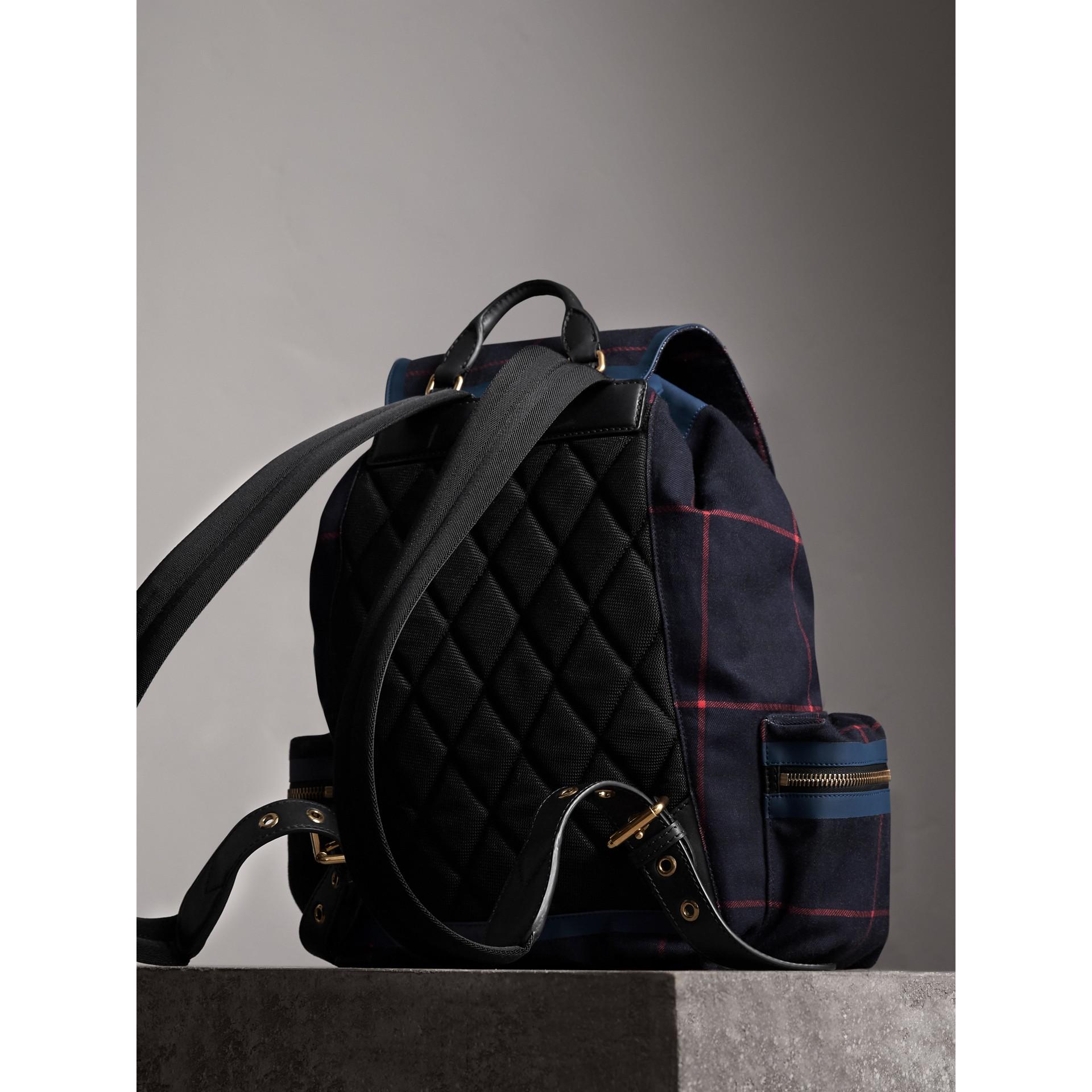 The Large Rucksack aus Baumwolle mit Schottenmuster (Tiefes Marineblau) - Herren | Burberry - Galerie-Bild 3