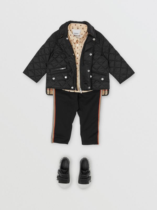 Lightweight Diamond Quilted Jacket in Black - Children | Burberry United States - cell image 3
