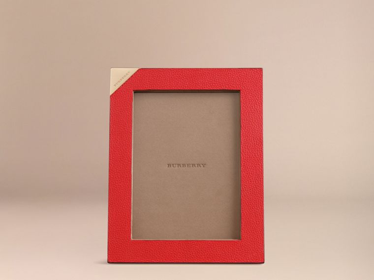Parade red Medium Grainy Leather Picture Frame Parade Red - cell image 1